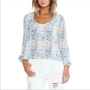 Lovers + Friends Long Sleeve Peasant Blouse. Large